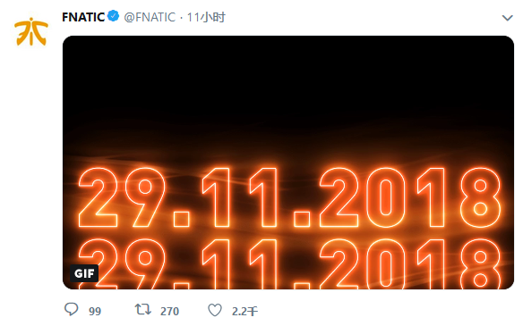 FNC发推预告:北京时间晚11点或有重大新闻